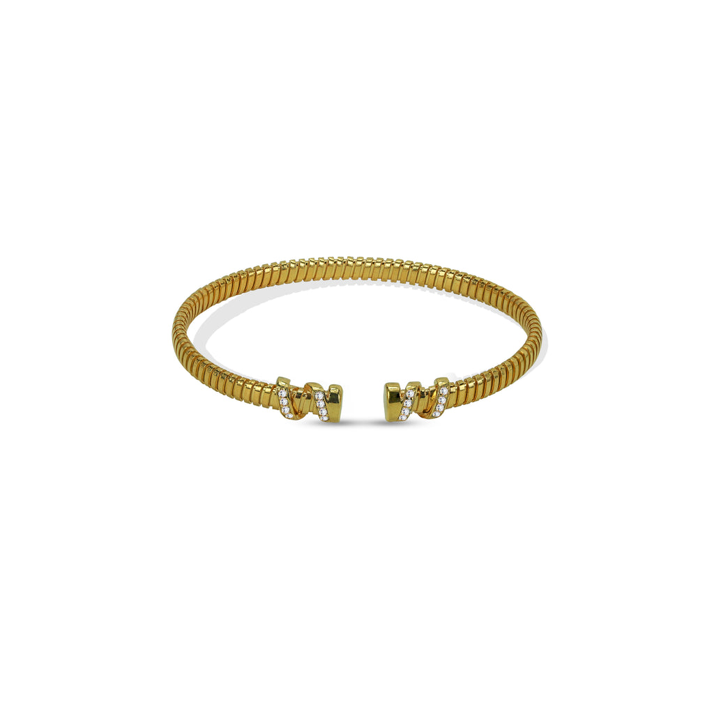 THE RIBBED OPEN BRACELET CUFF
