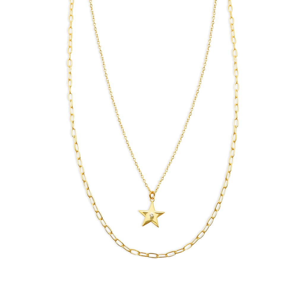 THE LAYERED SINGLE STAR NECKLACE