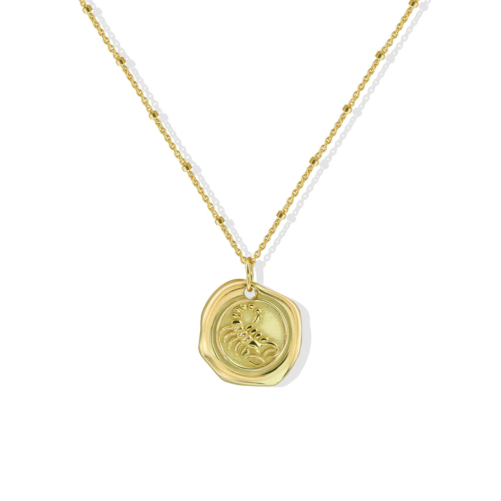 THE STAMPED ZODIAC NECKLACE