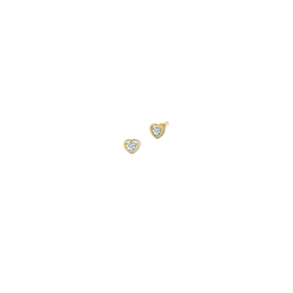 THE 14K GOLD HEART II STUD