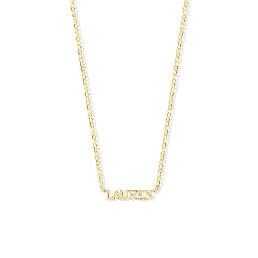 THE PERSONALIZED CLASSIC FONT NECKLACE