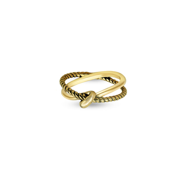 THE TWISTED KNOT RING