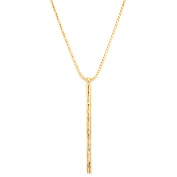 HAMMERED STICK PENDANT NECKLACE