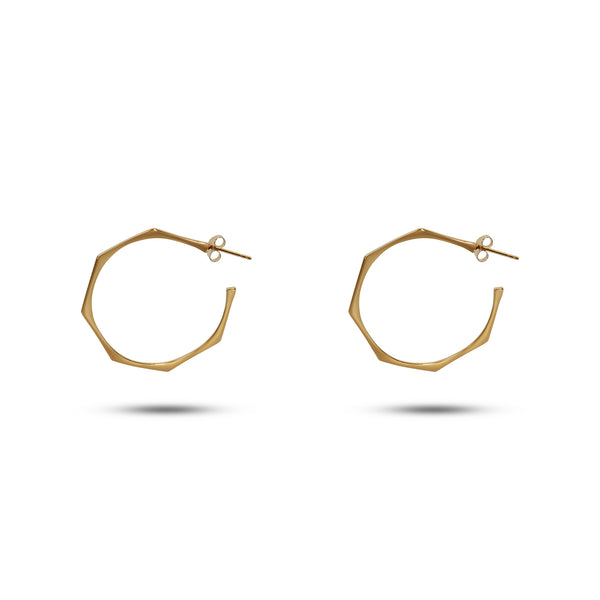 THE GENE OPEN HOOP EARRING