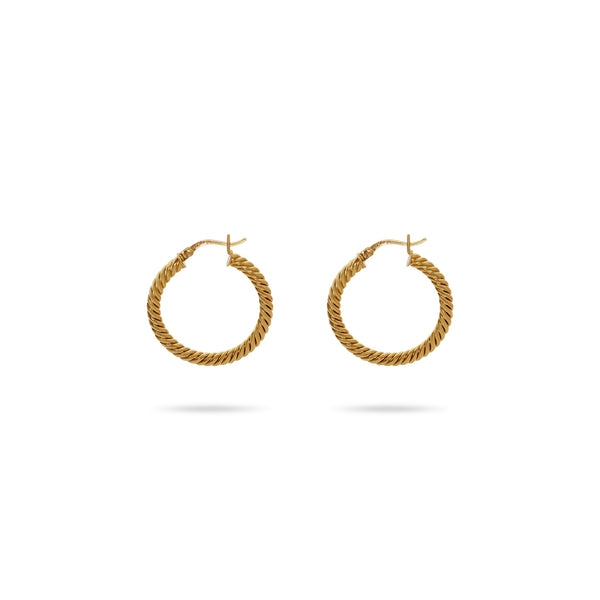 THE ESSENTIAL ROPE HOOP EARRING
