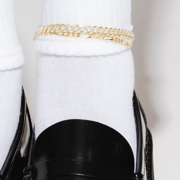 THE ESSENTIAL TWO TONE CURB ANKLET