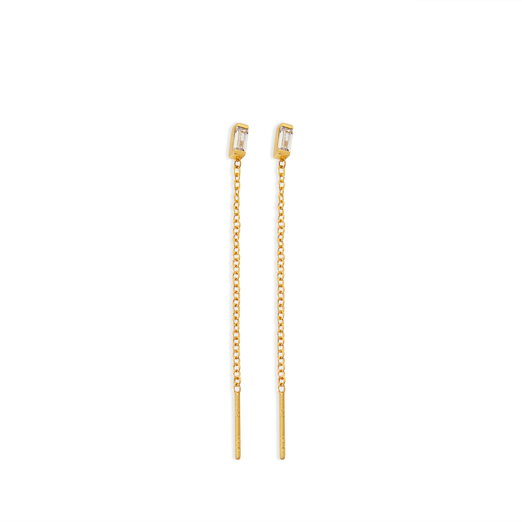 THE BAGUETTE THREADER EARRING