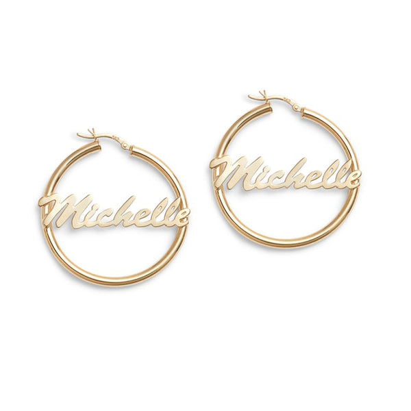 PERSONALIZED NAME HOOPS