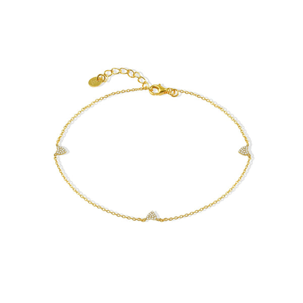 THE PAVE HEART ANKLET