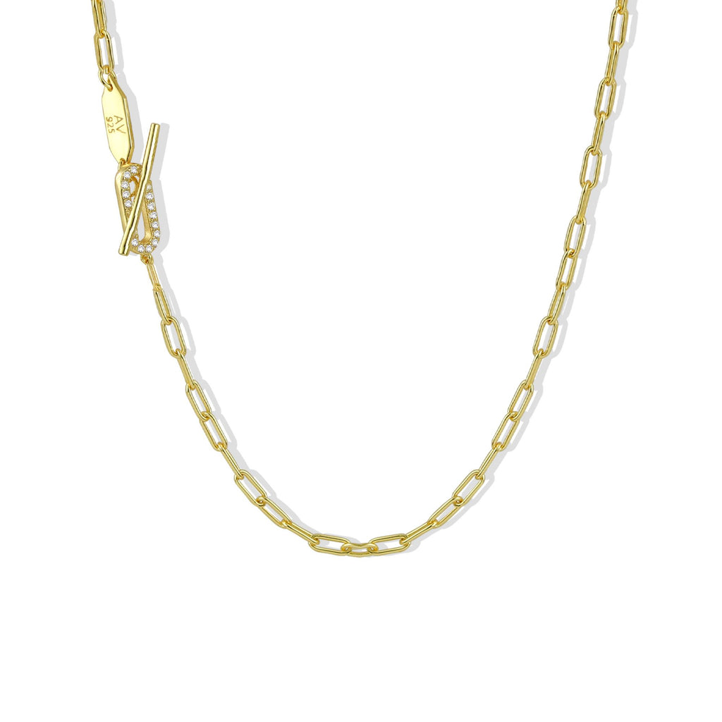 THE PAVE TOGGLE LINK NECKLACE