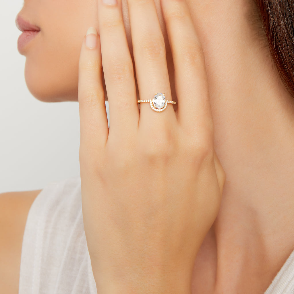 THE CZ SOLITAIRE RING