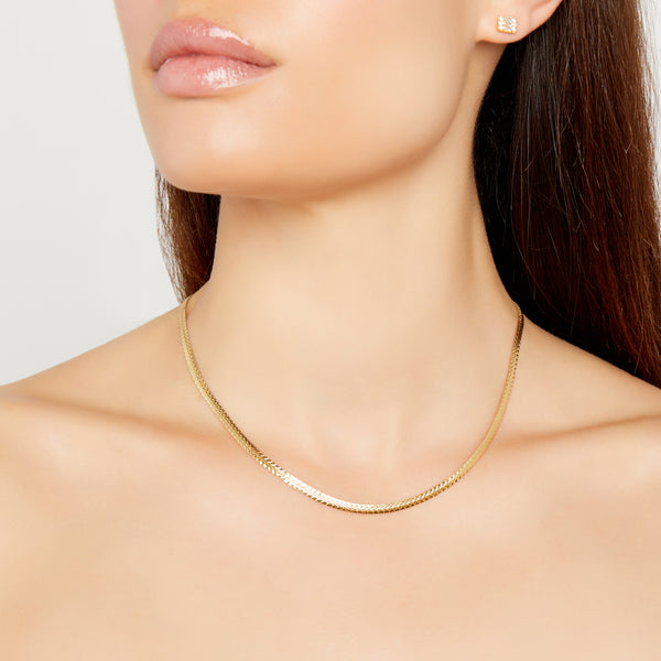 THE TEXTURED FLAT CHAIN NECKLACE