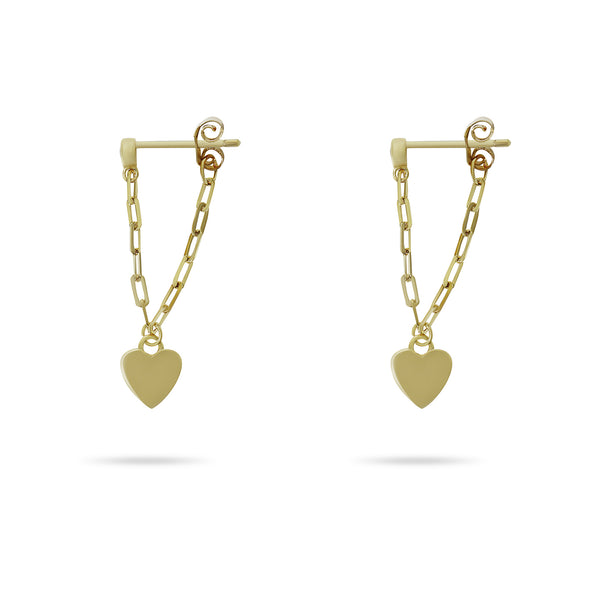 PAPERCLIP HEART DROP EARRINGS