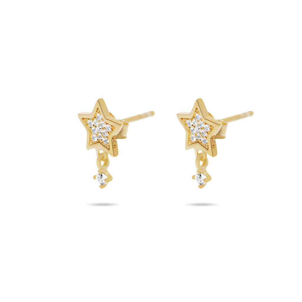 THE PAVE STAR DROP STUD