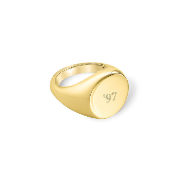 PERSONALIZED ROUND PINKY RING