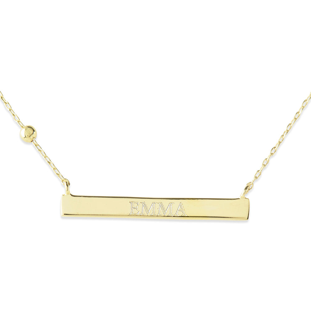THE PERSONALIZED BAR PENDANT NECKLACE