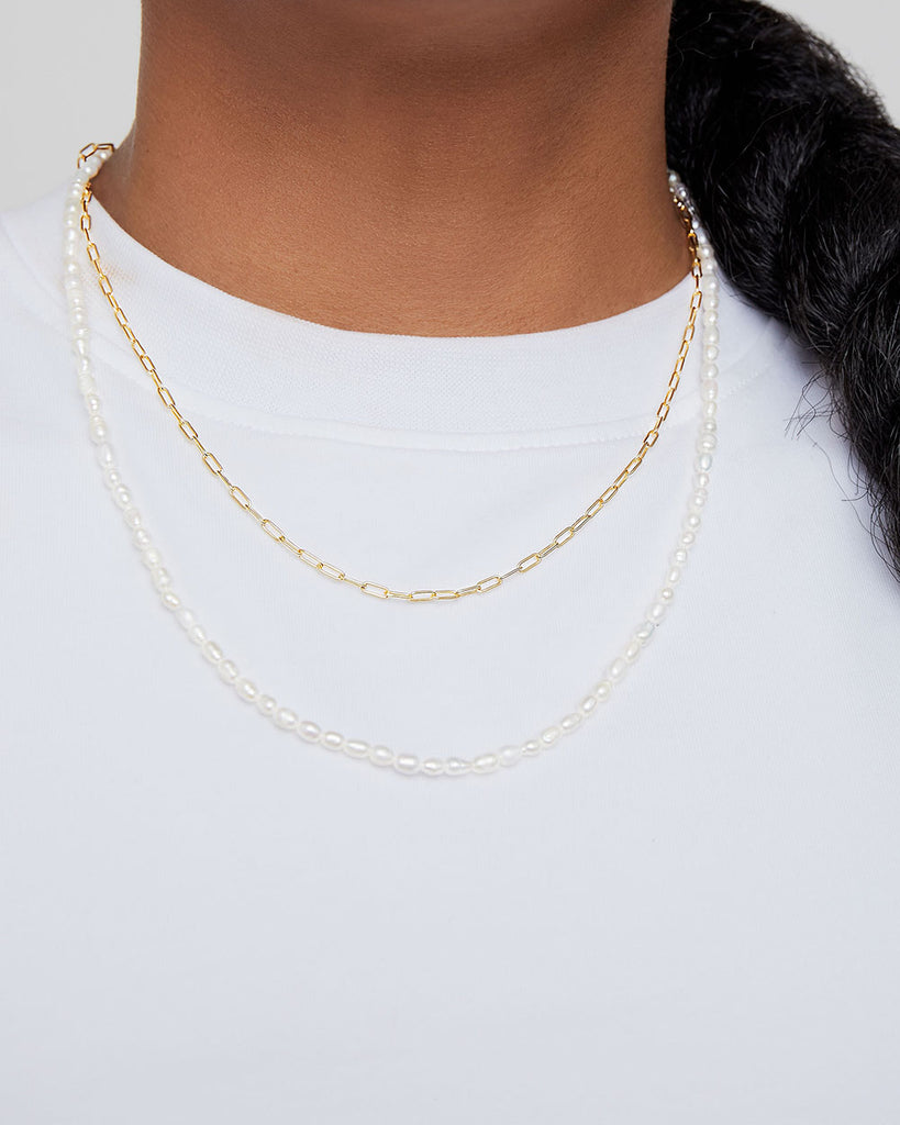 THE PEARL CHAIN NECKLACE SET