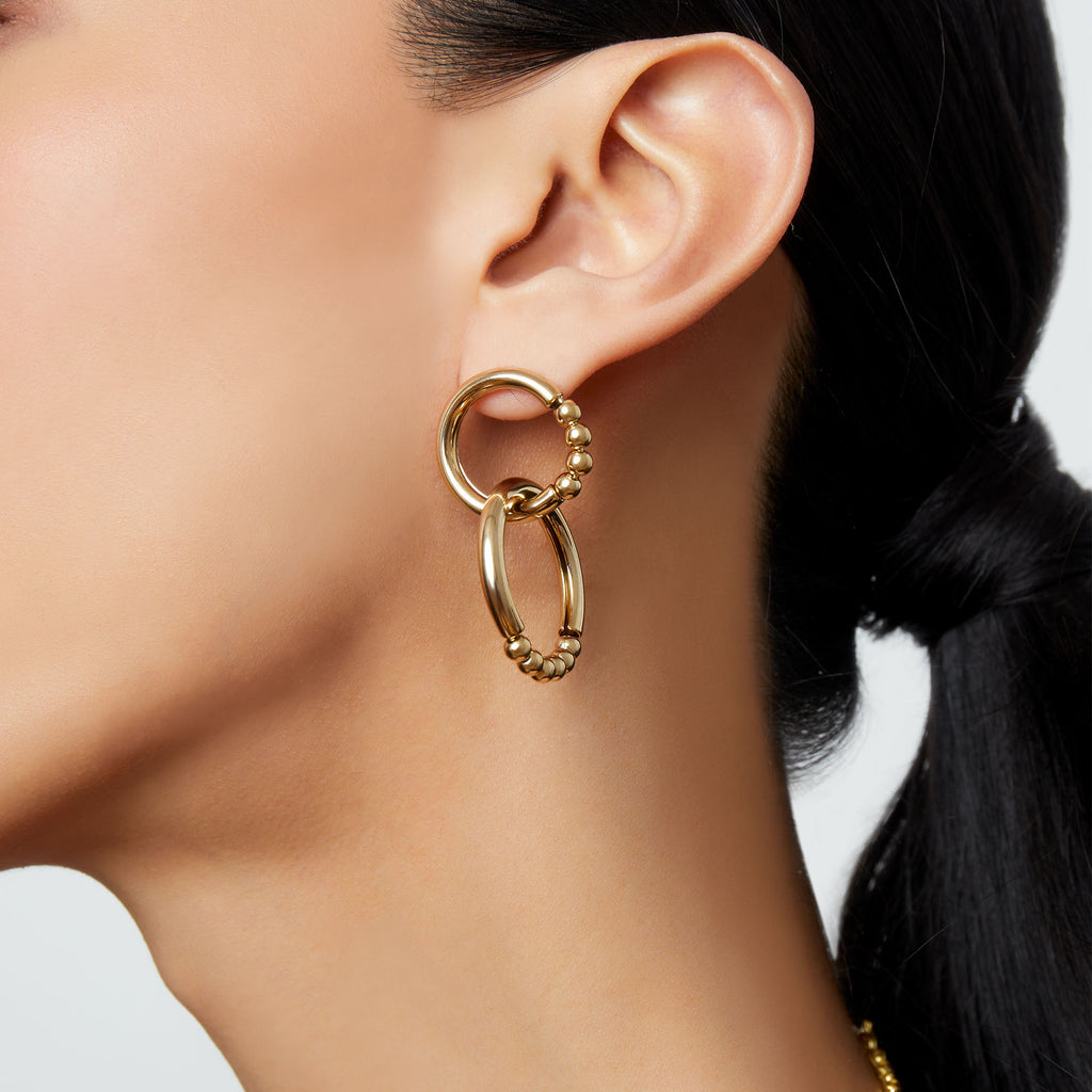 THE CASTILLA DOUBLE LINK EARRING