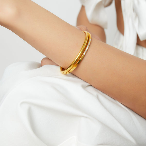 THE SQUARE BRACELET CUFF WITH CZ
