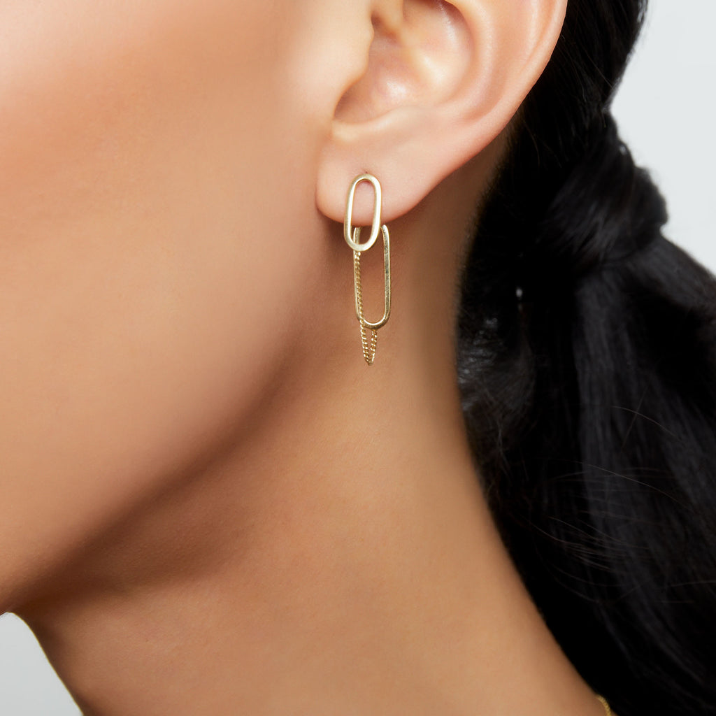 THE CHAINED PAPERCLIP EARRING