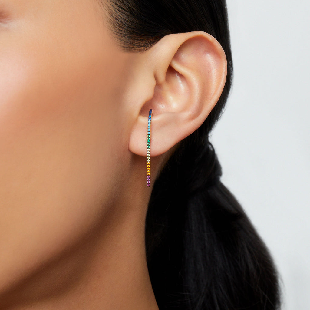 THE CZ HOOK EARRING