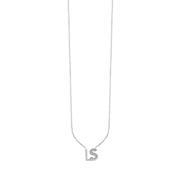 THE PERSONALIZED BLOCK FONT DOUBLE INITIAL NECKLACE