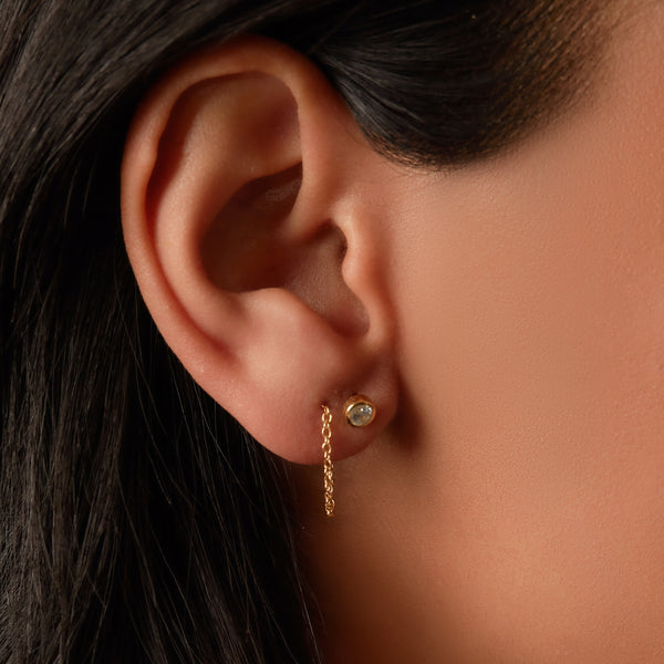 THE CZ CIRCLE THREADER EARRING