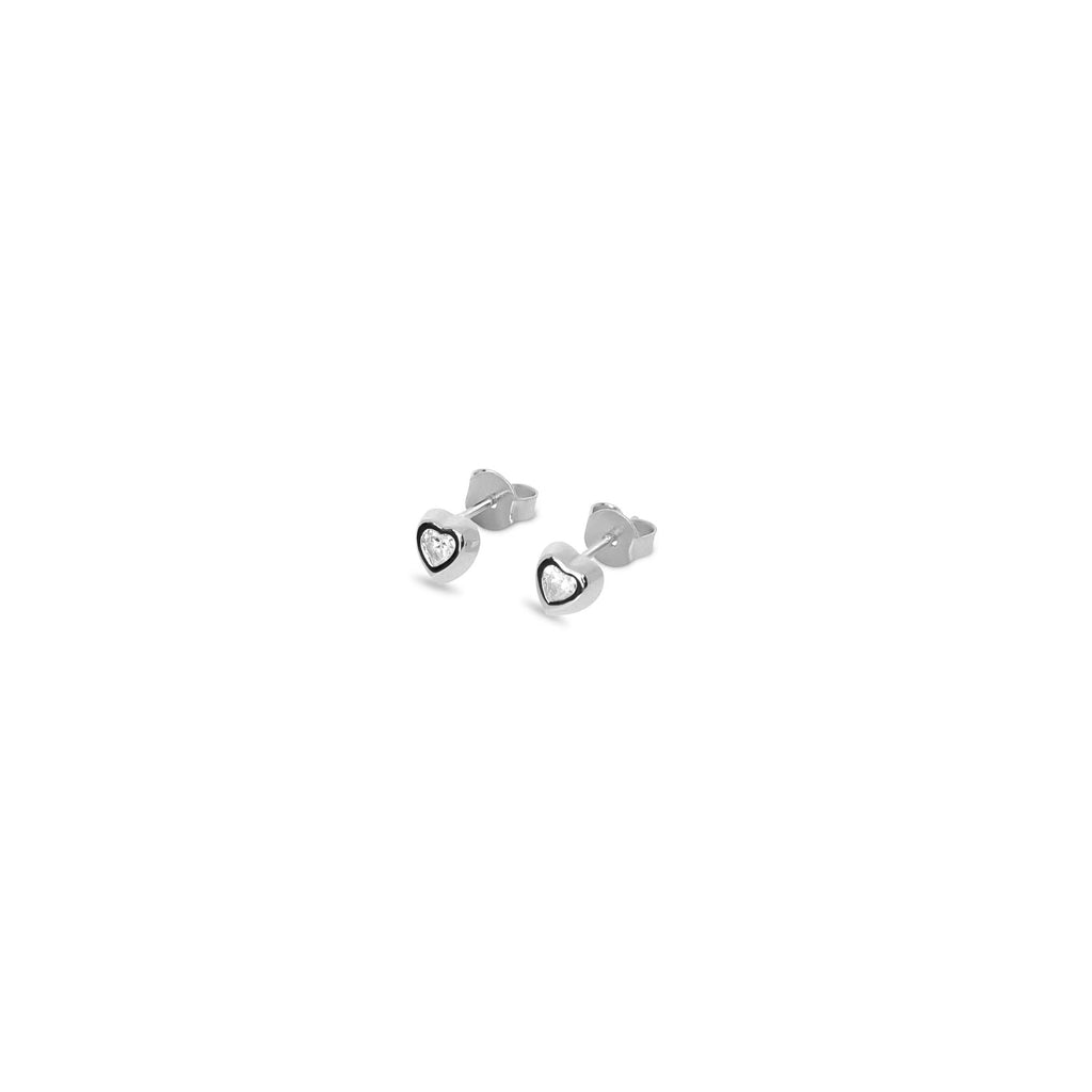 THE HEART CZ STUD