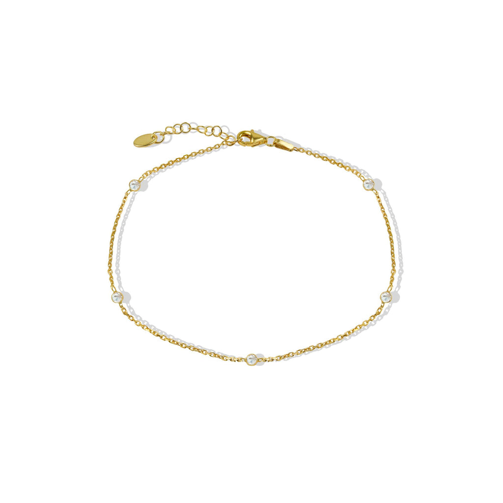 THE ESSENTIAL CZ CIRCLE ANKLET
