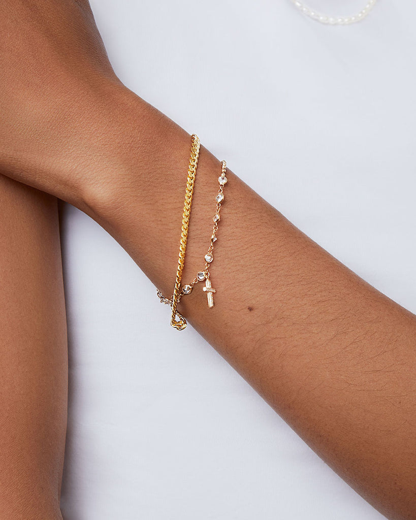 THE CROSS CHARM BRACELET