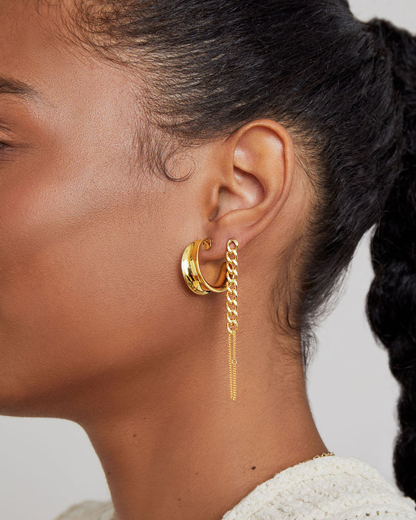 THE CURB CHAIN DROP EARRING