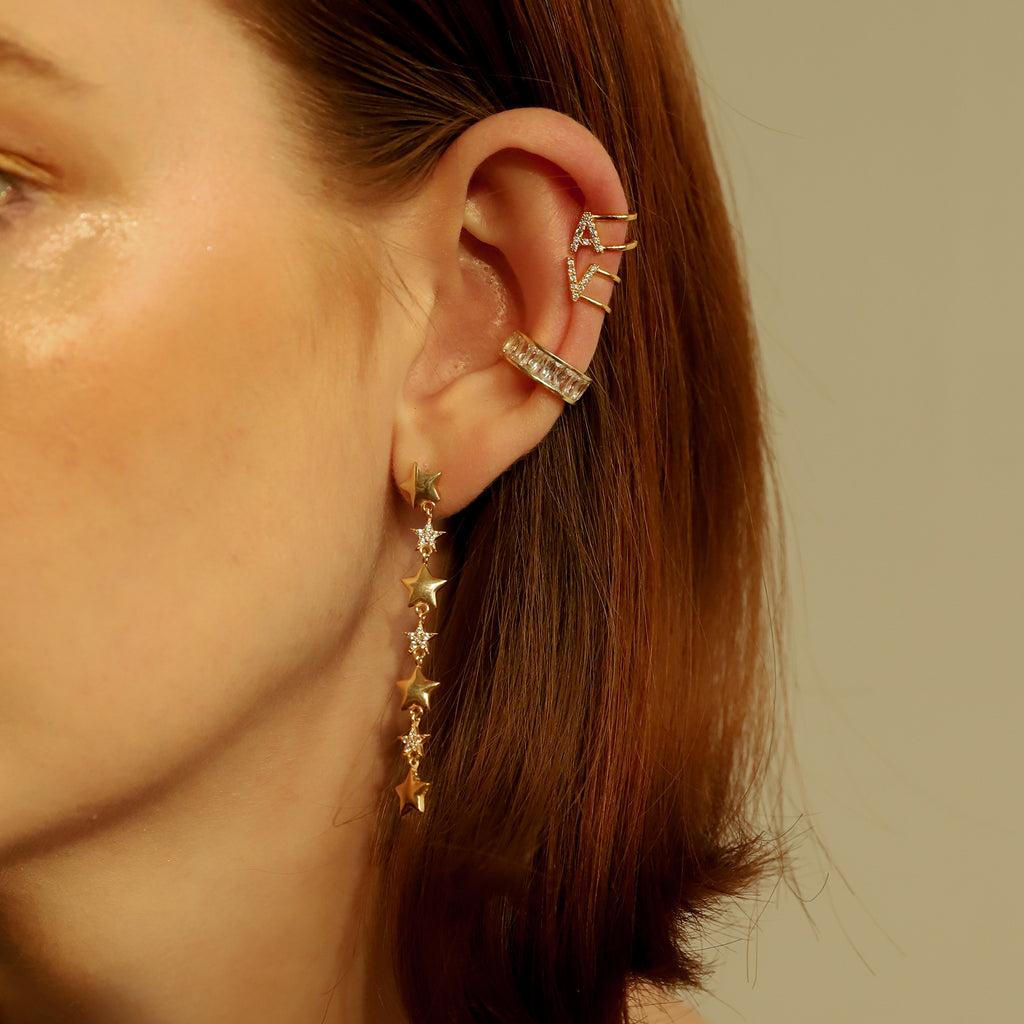THE WIDE CZ EAR CUFF