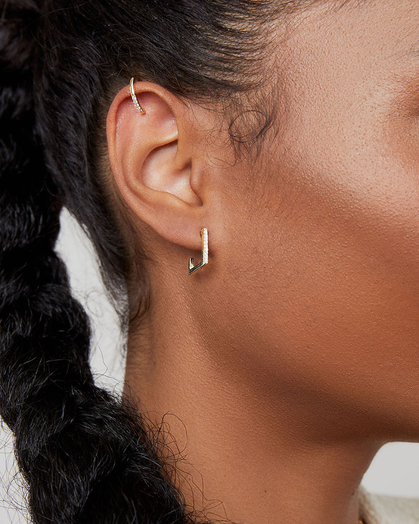 THE GOLD CZ EAR CUFF