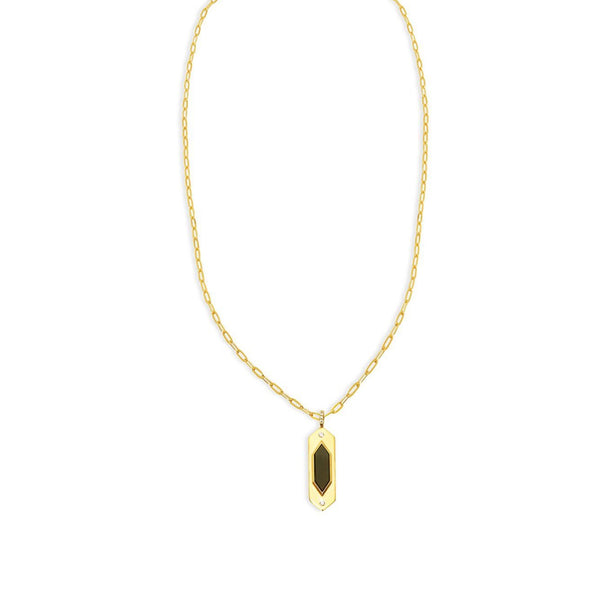 THE GEO ONYX PENDANT NECKLACE