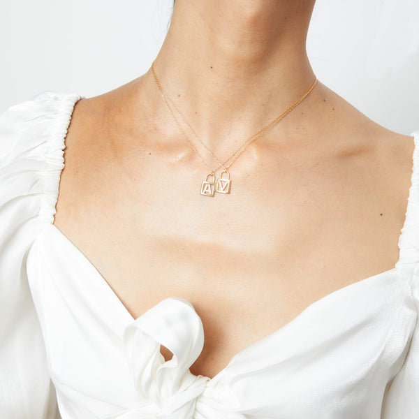 THE INITIAL LOCKET NECKLACE