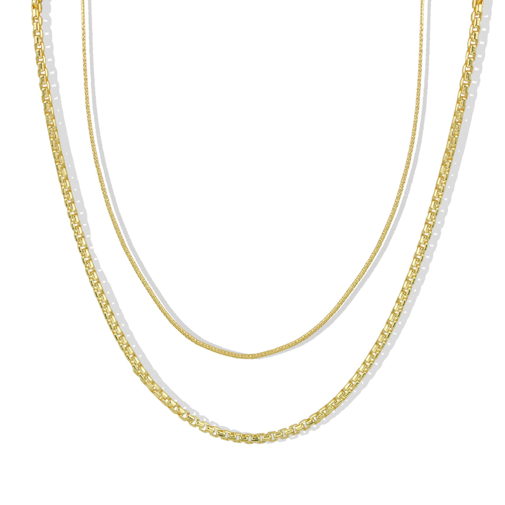 THE SNAKE CHAIN NECKLACE SET