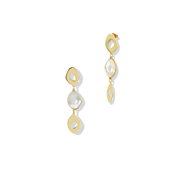 THE MOTHER OF PEARL DROP EARRING