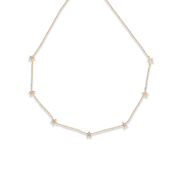 THE CZ MULTI STAR NECKLACE