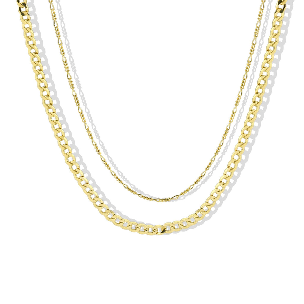 THE LAYERED CURB NECKLACE SET