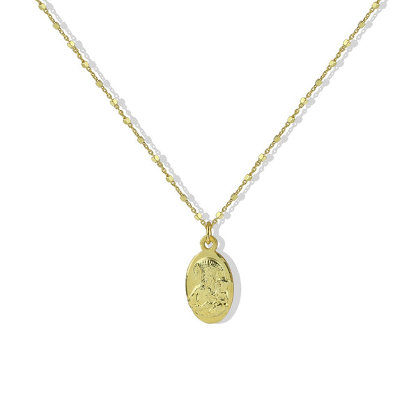 THE OVAL VIRGIN MARY PENDANT
