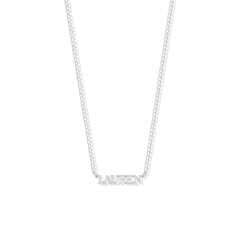 PERSONALIZED CLASSIC FONT NECKLACE