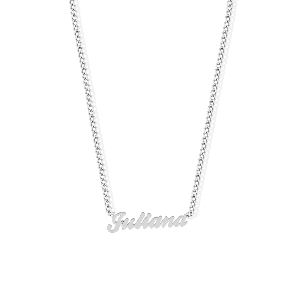 THE PERSONALIZED SMALL SCRIPT FONT NECKLACE