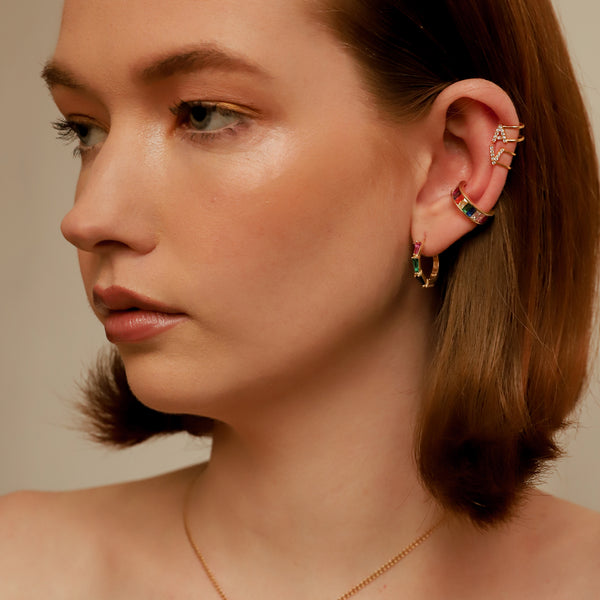 THE RAINBOW BAGUETTE EAR CUFF