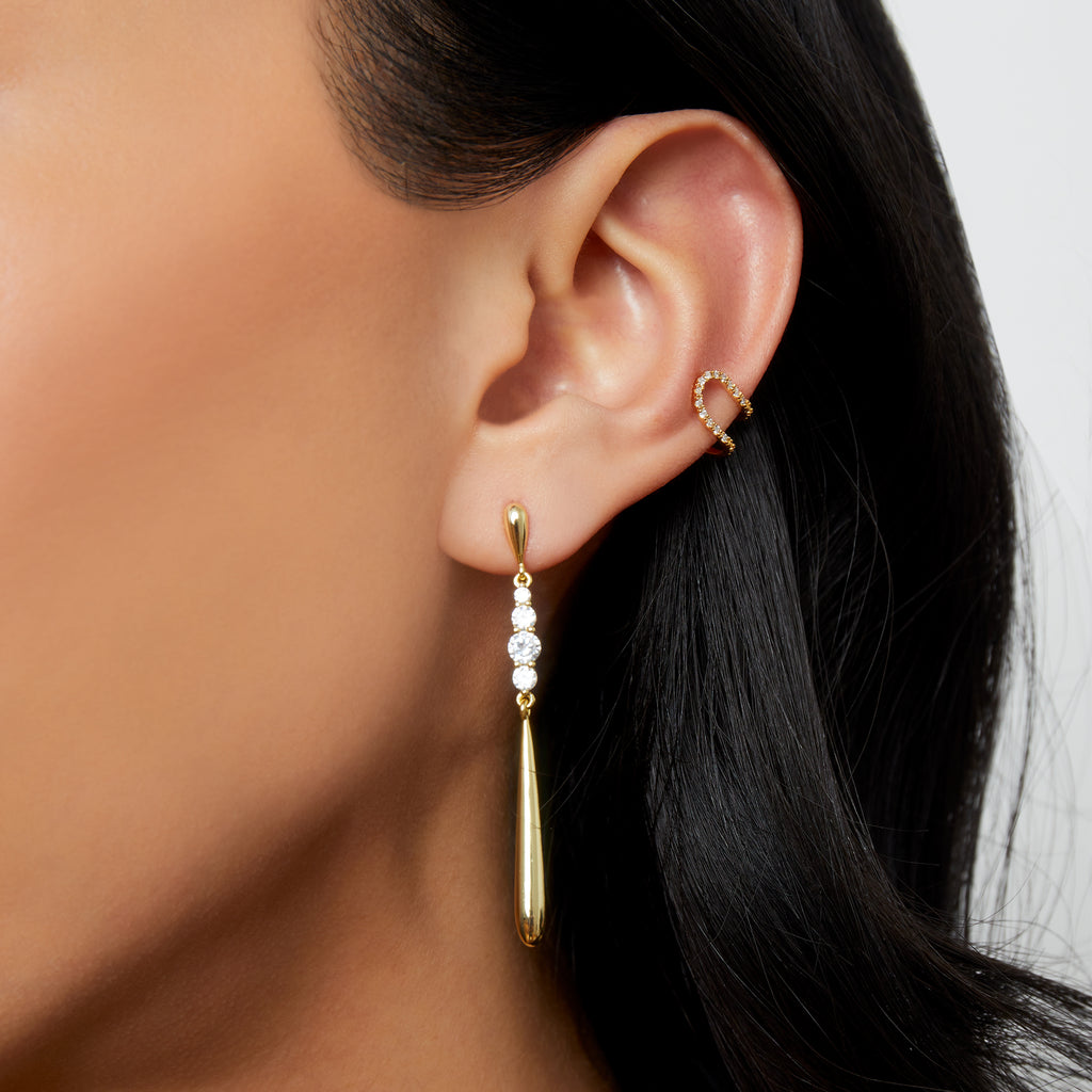 THE DOUBLE CZ EAR CUFF