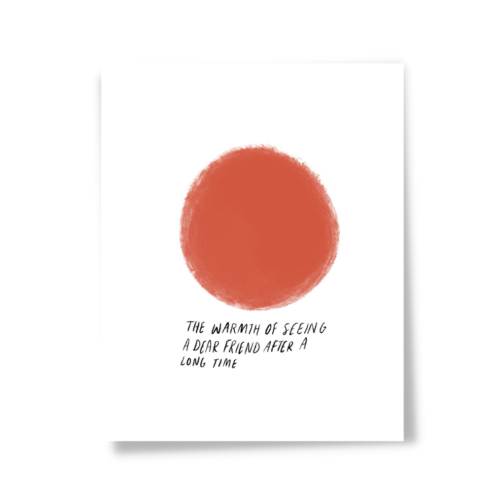 Amber Color Dot Art Print