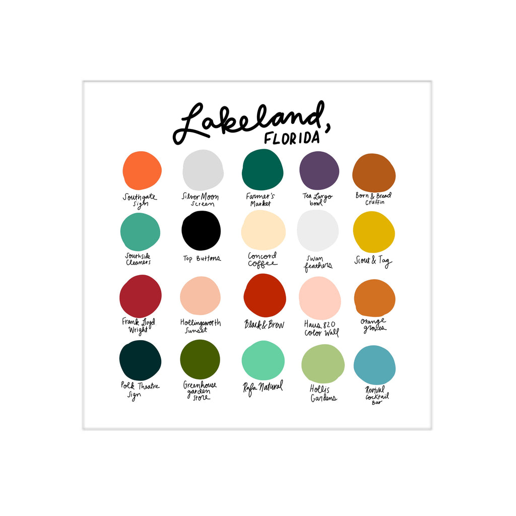 Lakeland Color Dot Print