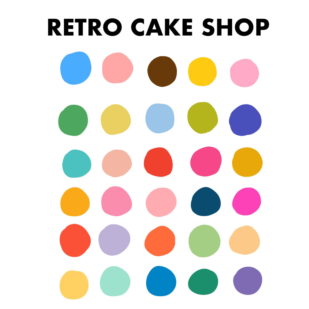 Retro Cake Shop Procreate Palette