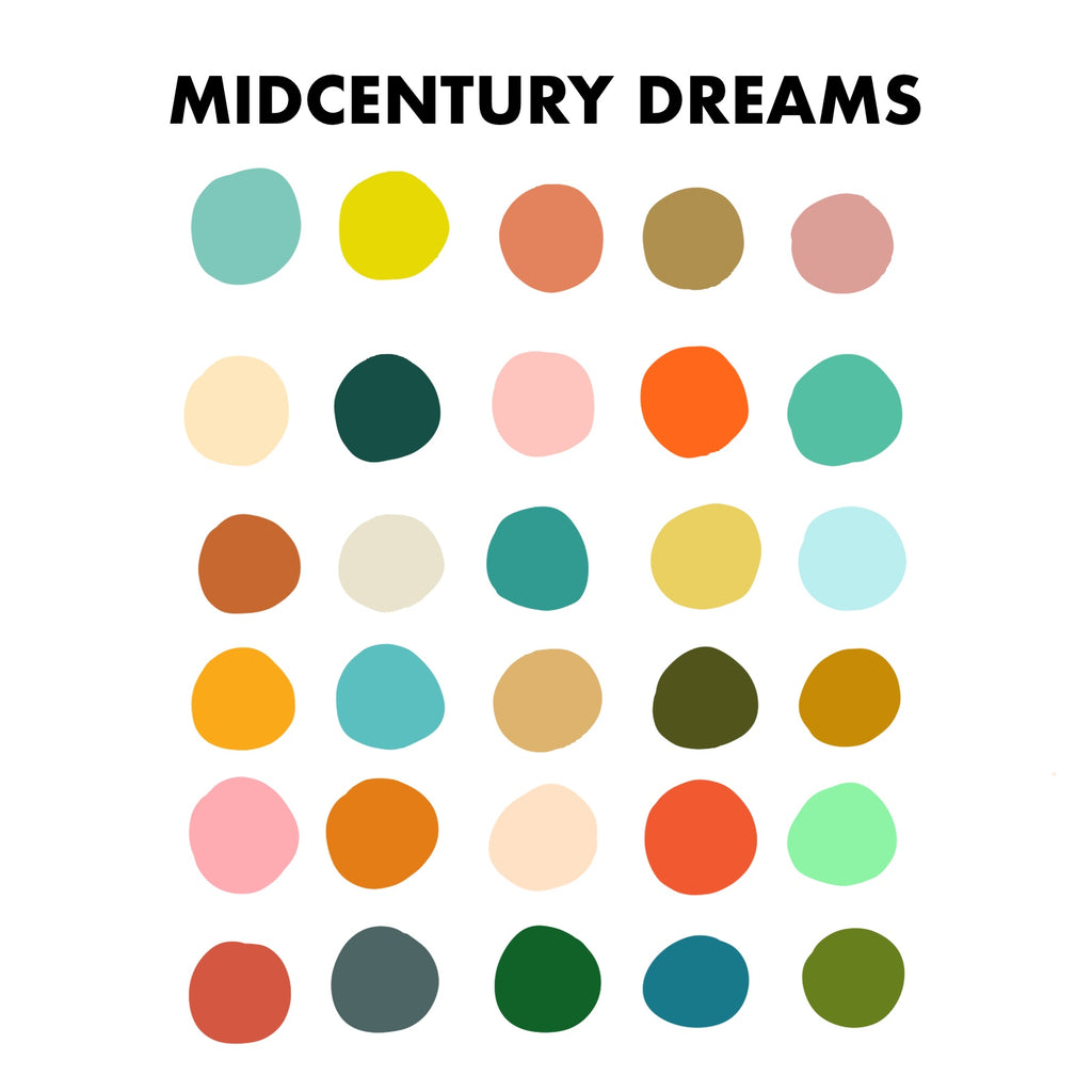 Midcentury Dreams Procreate Palette