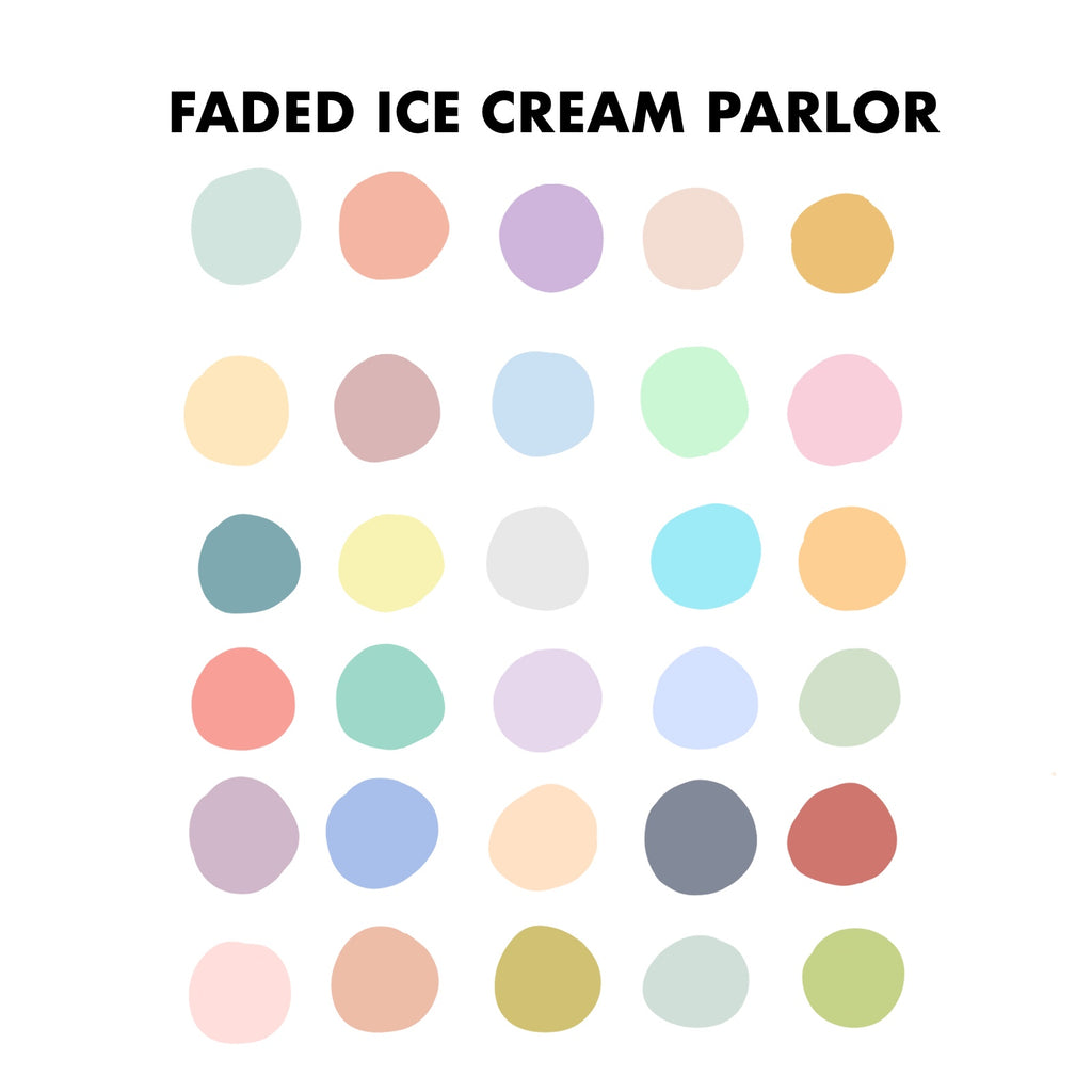 Faded Ice Cream Parlor Procreate Palette