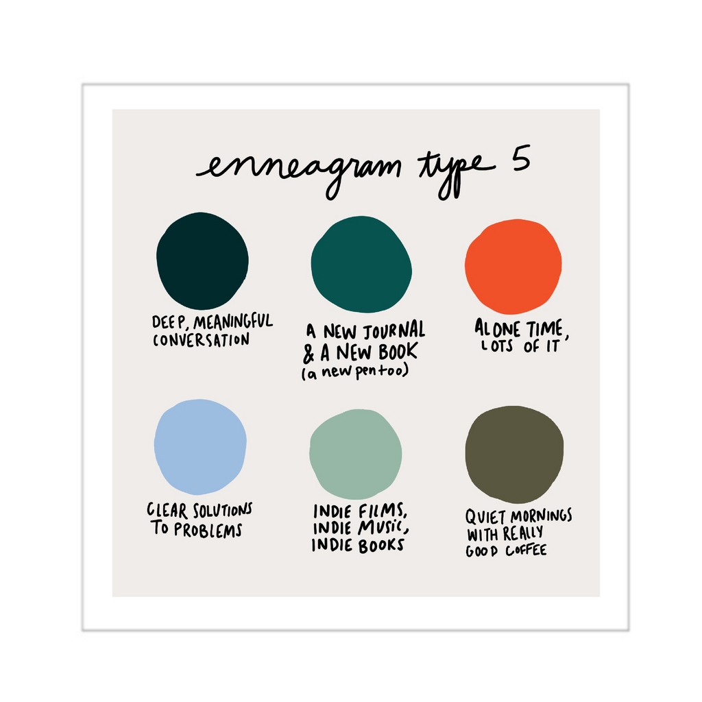 enneagram type 5 color dot art